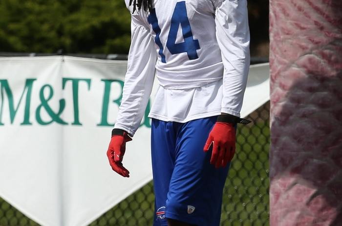 Bills wide receiver Sammy Watkins sat out team drills during Thursday's practice. (James P. McCoy/Buffalo News)