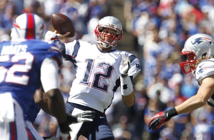 The Bills meet up with old friend Tom Brady and the New England Patriots at home on Oct. 12; a trip to Foxborough, Mass., wraps up a tough end to the schedule. (Harry Scull Jr./Buffalo News)