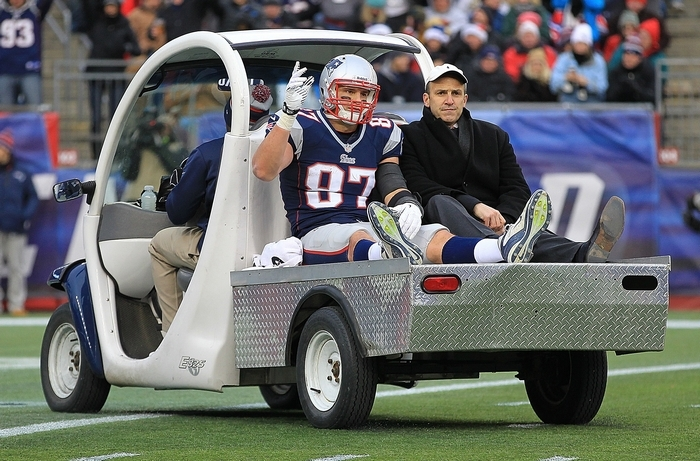 Amherst native Rob Gronkowski's health is a major factor for the Patriots. (Getty Images)