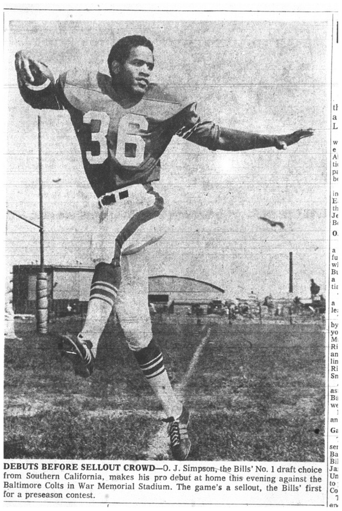 Aug. 22, 1969: O.J. Simpson's debut with the Bills