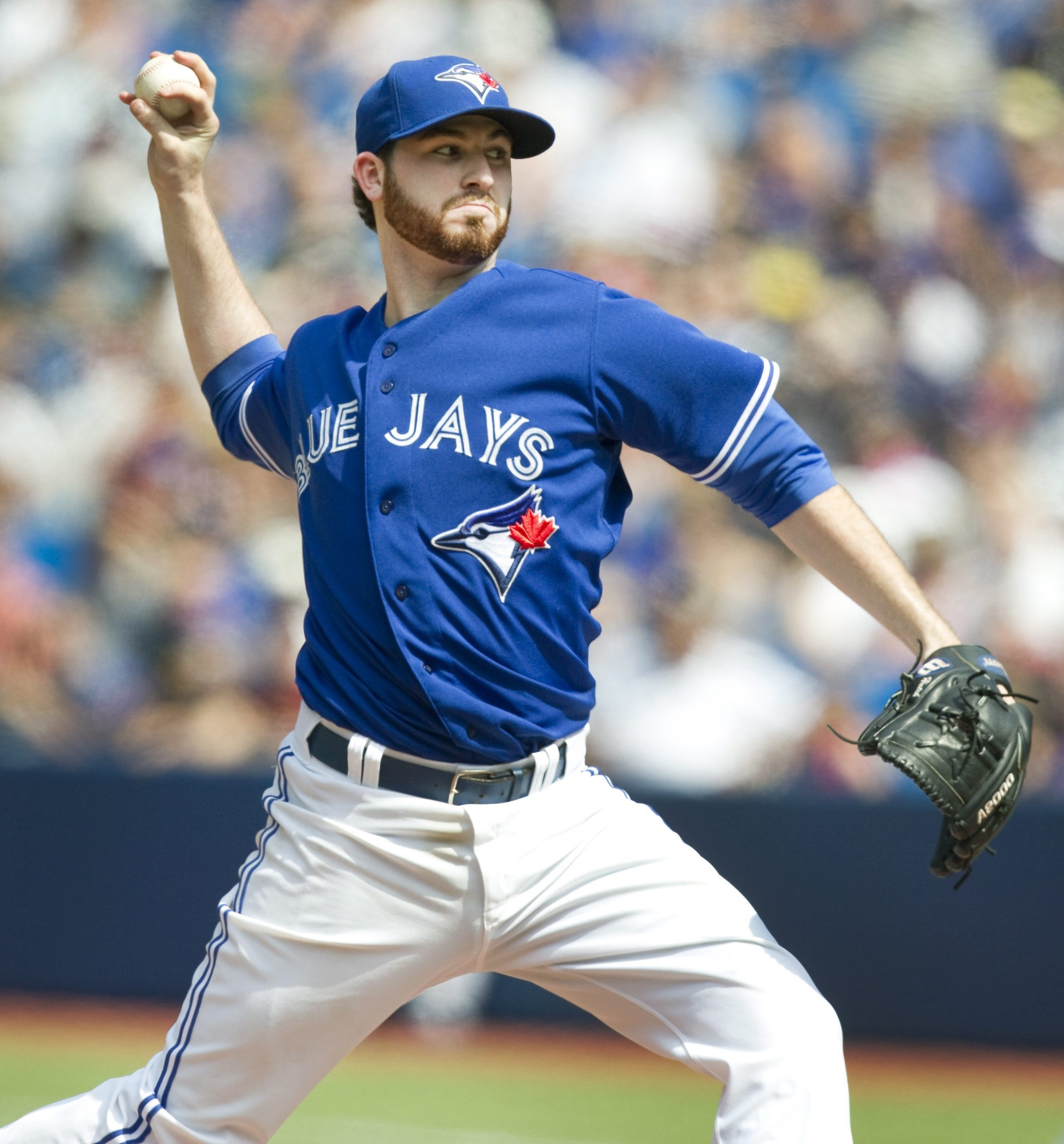 Toronto Blue Jays' starting pitcher Drew Hutchison held the Yankees to one hit, a double by Mark Teixeira.