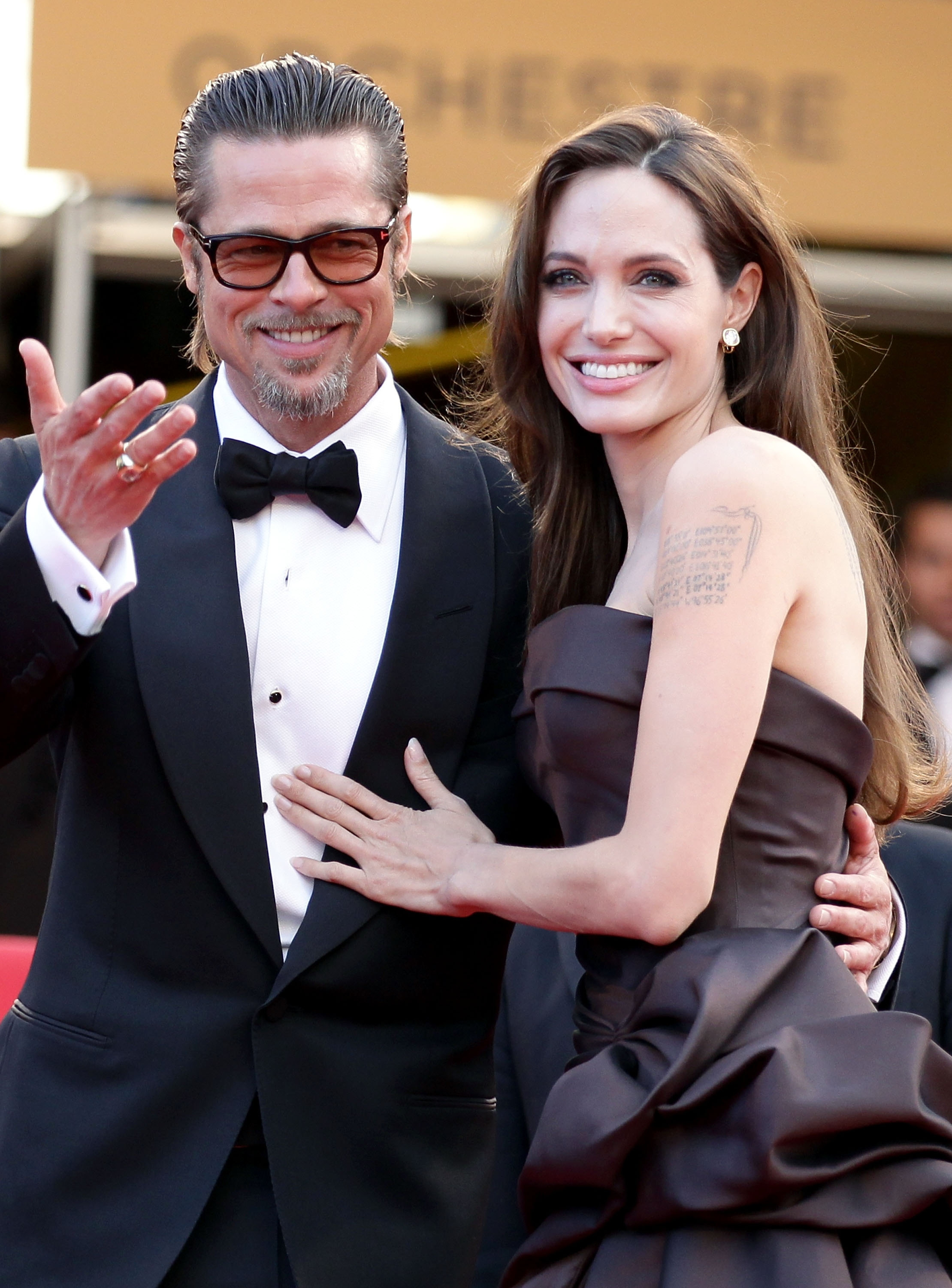 Angelina Jolie and Brad Pitt, shown in a file photo, were married Saturday at their home in Provence, France.