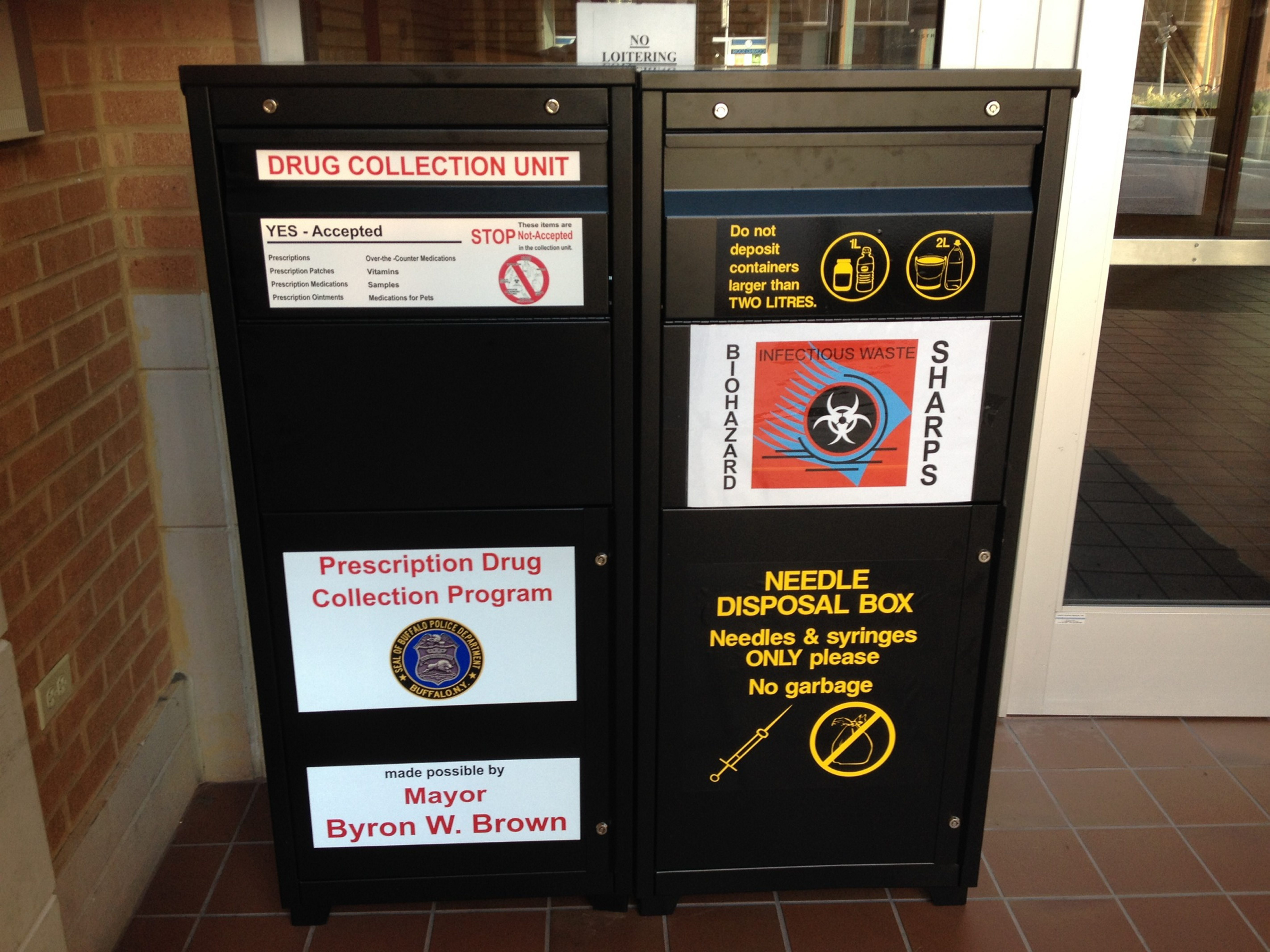 Buffalo police have placed drop boxes for leftover and unwanted prescription medication at its district stations.
