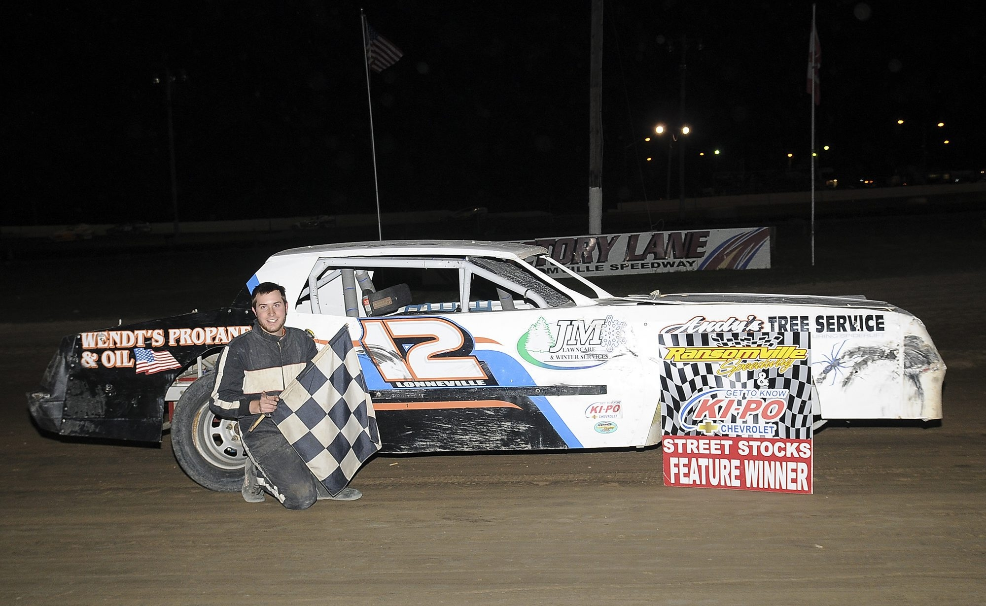 Street Stock driver and points leader Brian Lonneville has done everything this season except win two in a row at Ransomville.