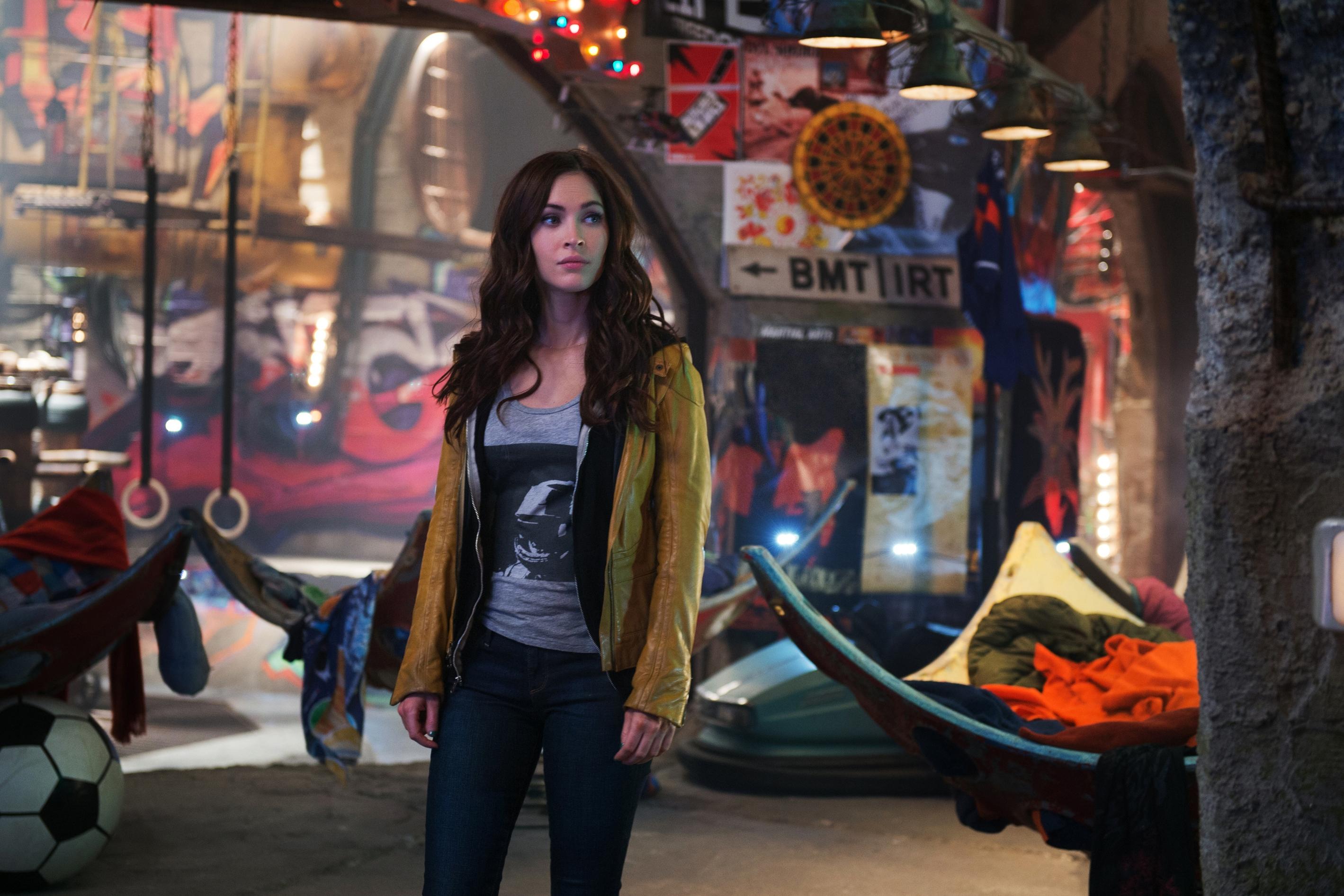 """Teenage Mutant Ninja Turtles,"" Paramount Pictures' comic book adaptation, stars Megan Fox."
