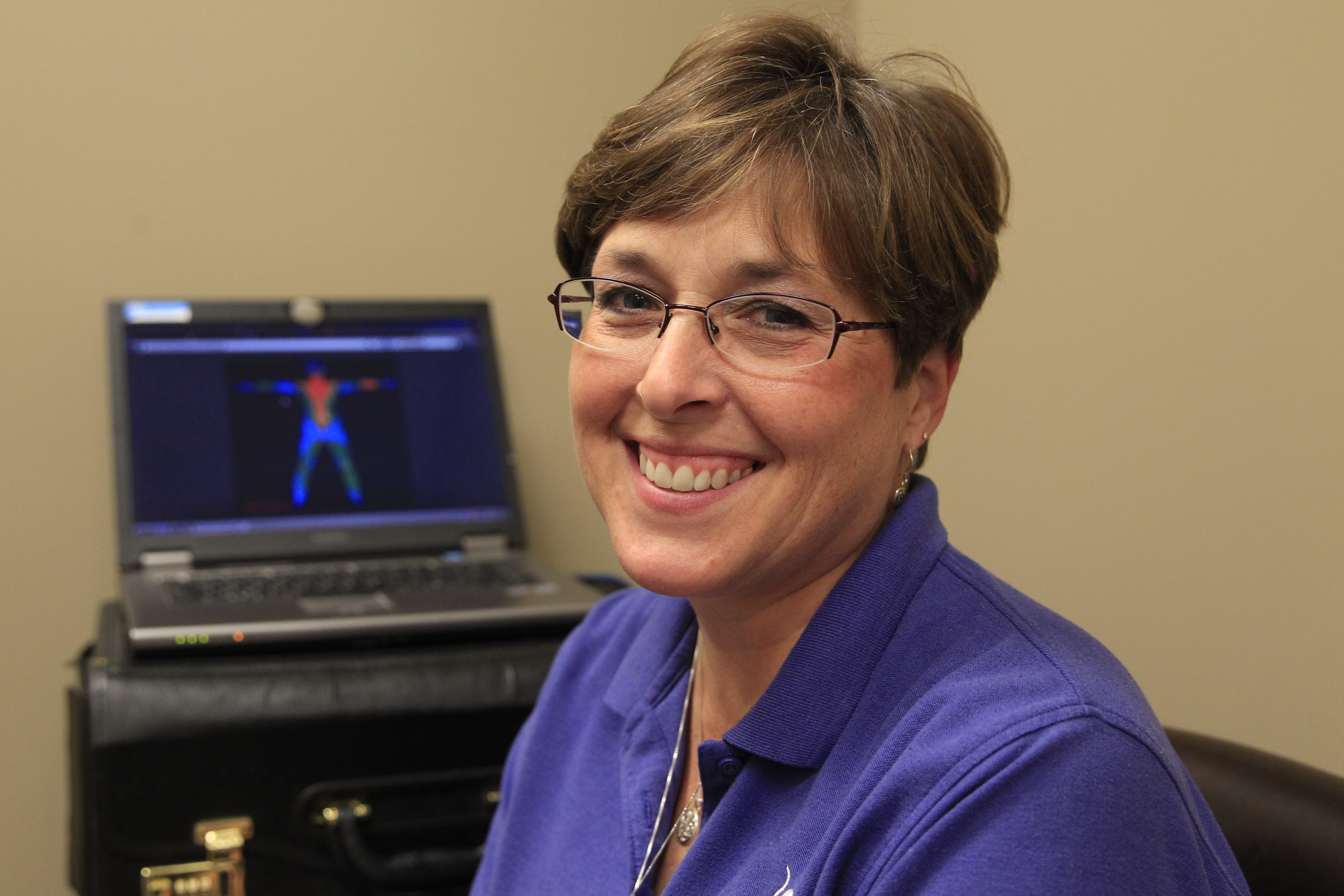 """""""Inflamation is the root of all disease, so if there's inflammation, that's an indication something needs a little bit of tweaking,"""" – Carol Knapp, manager of Dynamic Thermal Imaging."""