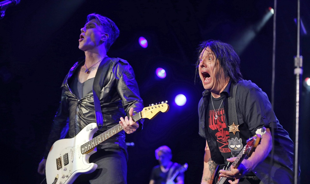 John Rzeznik, left, and Robby Takac had no shortage of rock 'n' roll energy. (Harry Scull Jr. / Buffalo News)