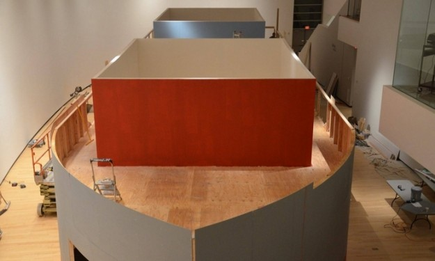 """Displacement: Barge Prototype,"" housed in the Burchfield Penney Art Center, features nine galleries in a 100-foot model of an Erie Canal barge."