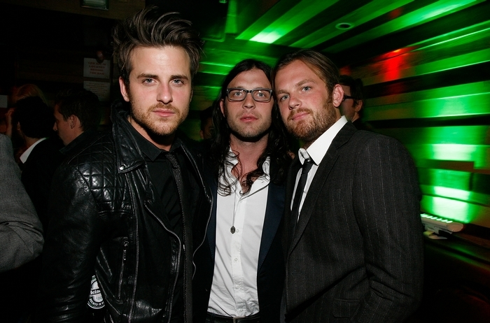 The Kings of Leon – Jared Followill, left, Nathan Followill and Caleb Followill – have canceled shows for the next two weeks after a bus accident left Nathan Followill with broken ribs. (Getty Images)