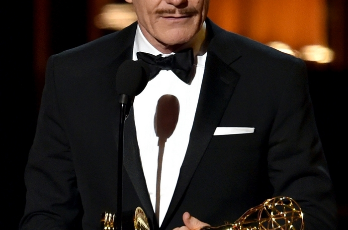 "Actor Bryan Cranston accepts Outstanding Lead Actor in a Drama Series for ""Breaking Bad."" (Kevin Winter/Getty Images)"