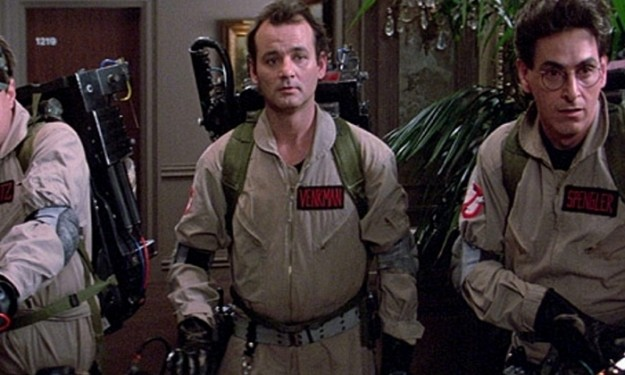 "Dan Akyroyd, left, Bill Murray and Harold Ramis star in the 1984 movie ""Ghostbusters."" For its 30th anniversary, Sony Pictures Entertainment has re-released the film in more than 700 locations in the U.S. and Canada, including locally at the Regal Transit and Regal Walden Galleria theaters."