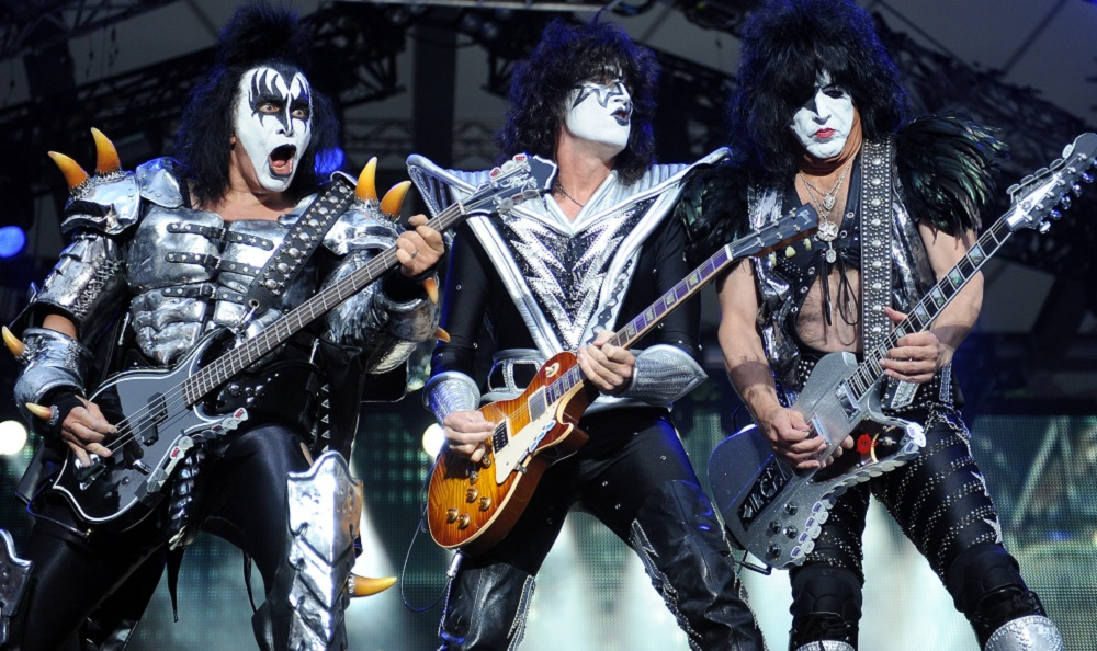 Kiss, performing above in Berlin, Germany, joins Def Leppard at Darien Lake. (AP Photo/dpa,Britta Pedersen, File)