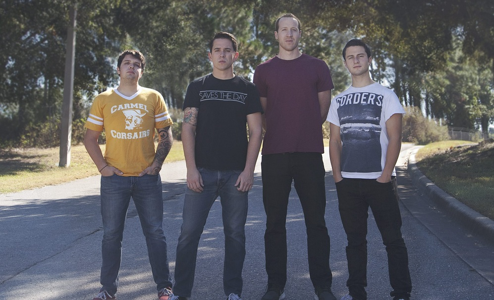 Buffalo's Pentimento, featuring Michael Hansen, left, Jeramiah Pauly, Lance Claypool  and Vincent Caito, performs Sunday at Edgefest. (Photo by Livia Glosikova)