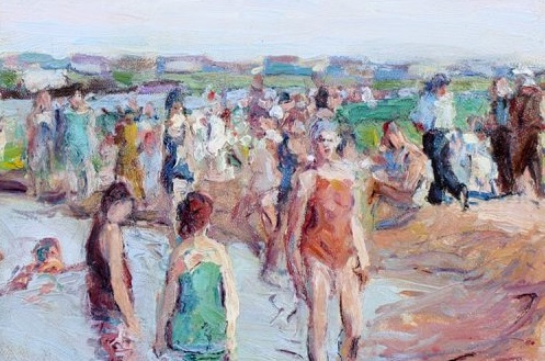 """The new exhibit """"Legacy: Early 20th Century Works by Burchfield, Renouard and Sisti"""" at the Benjaman Gallery includes work by George Renouard, including """"Bathers."""""""
