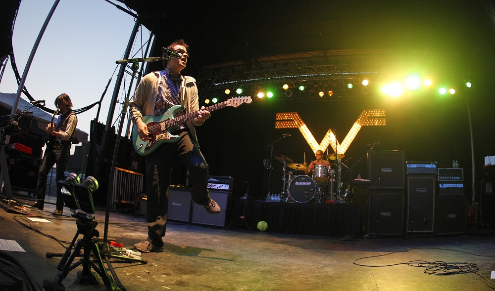 Weezer, with Buffalo native Patrick Wilson on drums, performed at Buffalo Place Rocks the Harbor in 2012. (Harry Scull Jr./Buffalo News file photo)