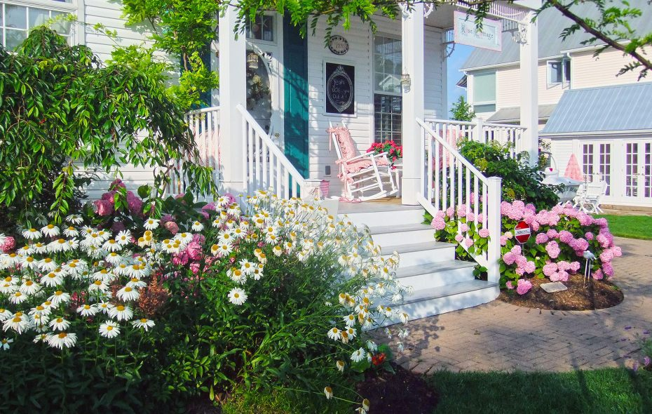 The entrance of the Curatolos' cottage in the full bloom of summer. (Courtesy of Joe & Kathy Curatolo)
