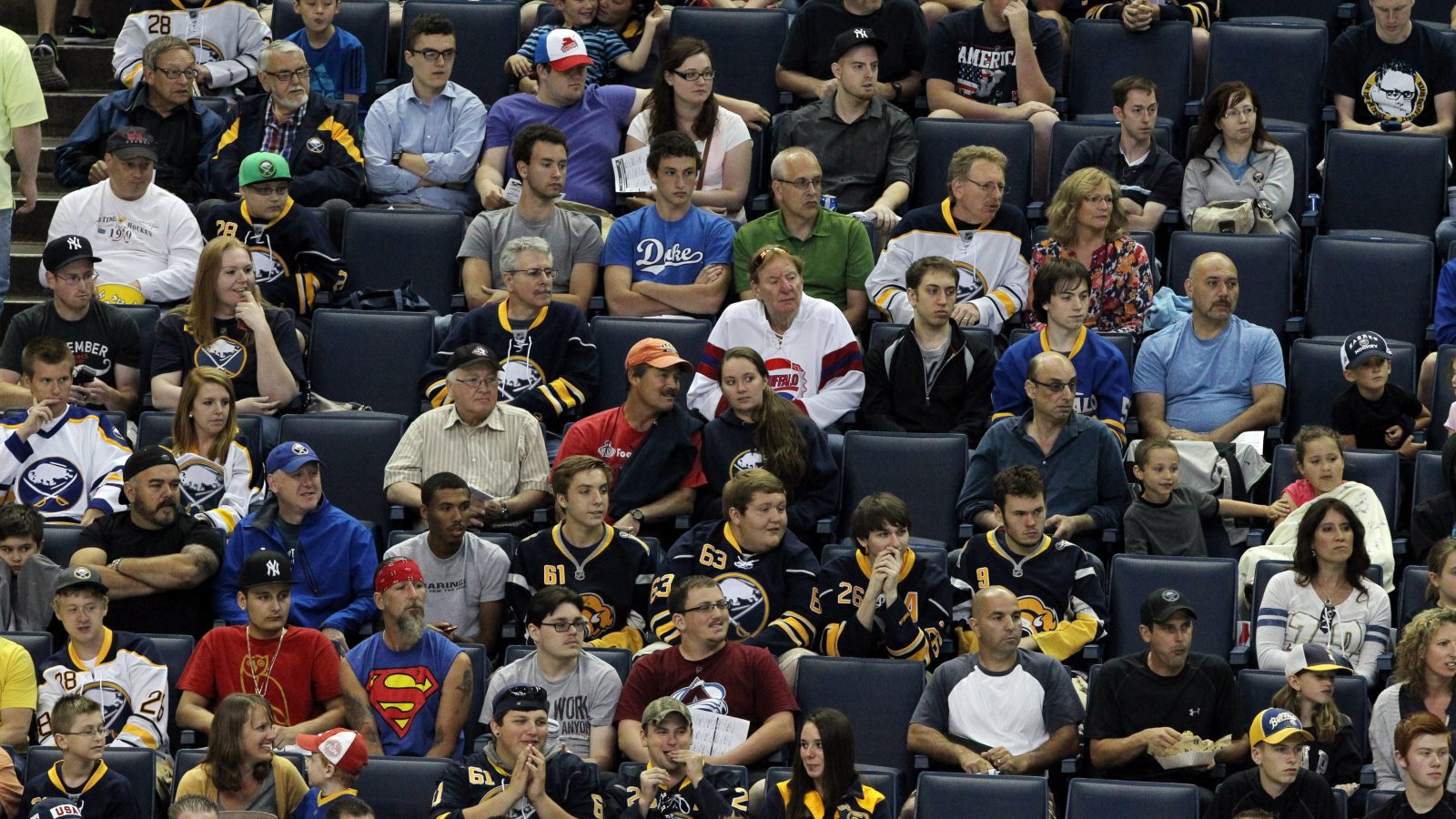 Fans take in a game at KeyBank Center. (James P. McCoy/News file photo)