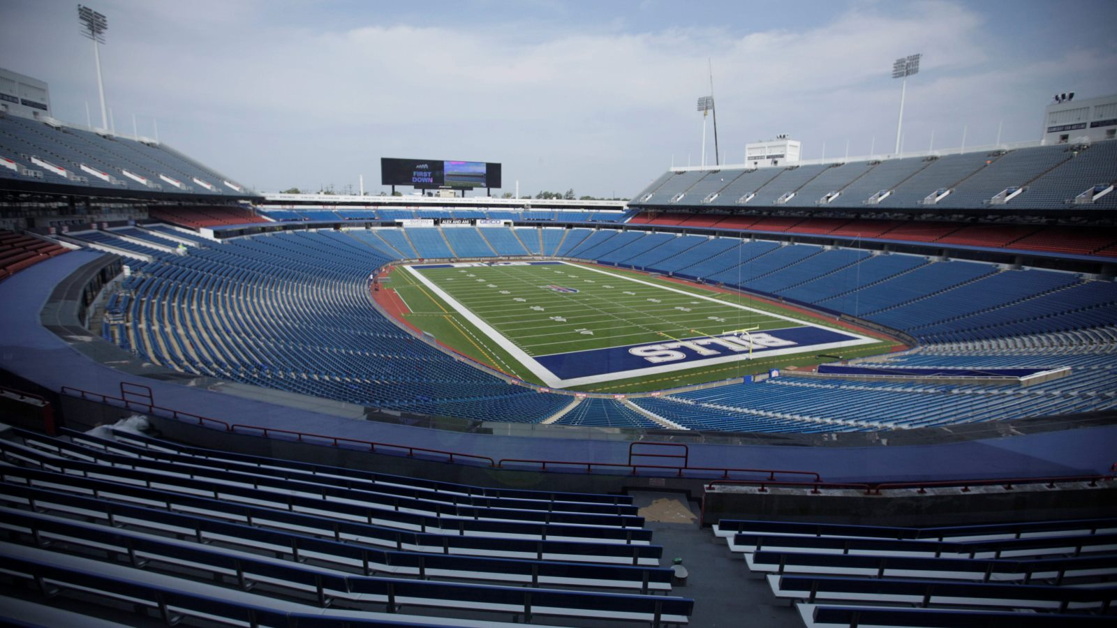 County Executive Mark Poloncarz and Russ Brandon regularly spoke about issues related to the Bills and stadium needs. (Derek Gee/Buffalo News)