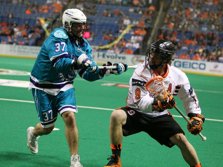 Mark Steenhuis and the Buffalo Bandits will play rival Rochester three times. (Sharon Cantillon/Buffalo News)