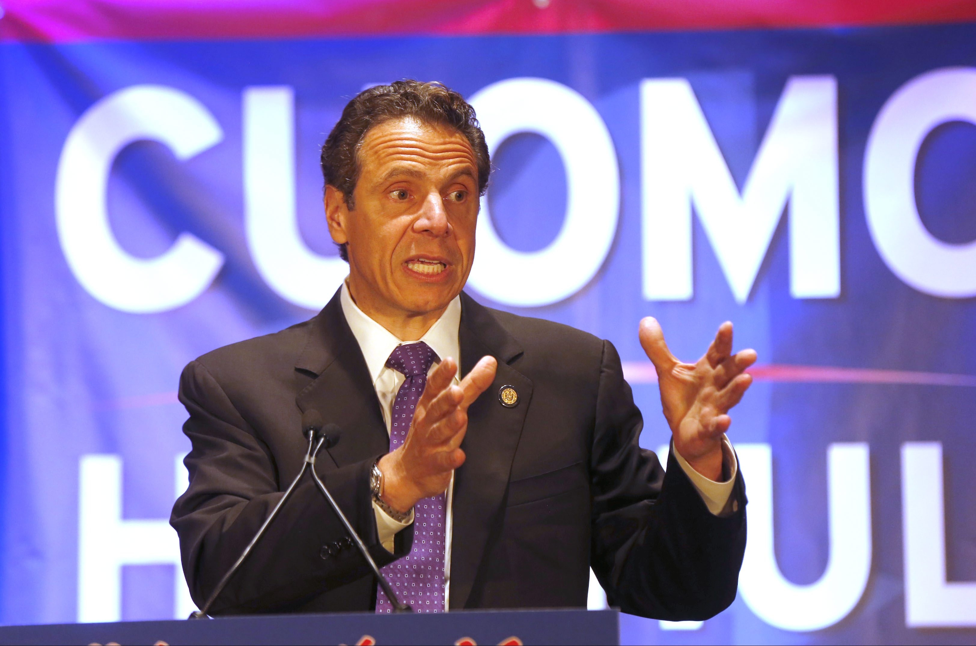 Gov. Andrew M. Cuomo, seen here thanking supporters Sept. 10 in Buffalo's convention center, has not endorsed incumbent state Sen. Mark Grisanti, a Republican who backed controversial Cuomo legislation, or Grisanti's Democratic challenger, Marc Panepinto.