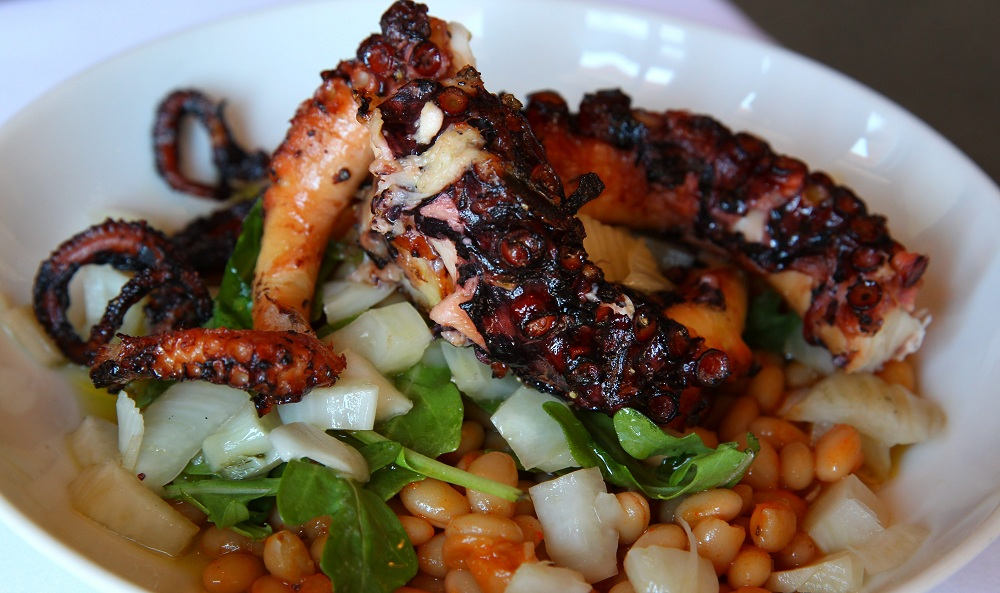 The grilled octopus was one of the dishes tasted at Ristorante Lombardo on Hertel. (Mark Mulville/Buffalo News file photo)