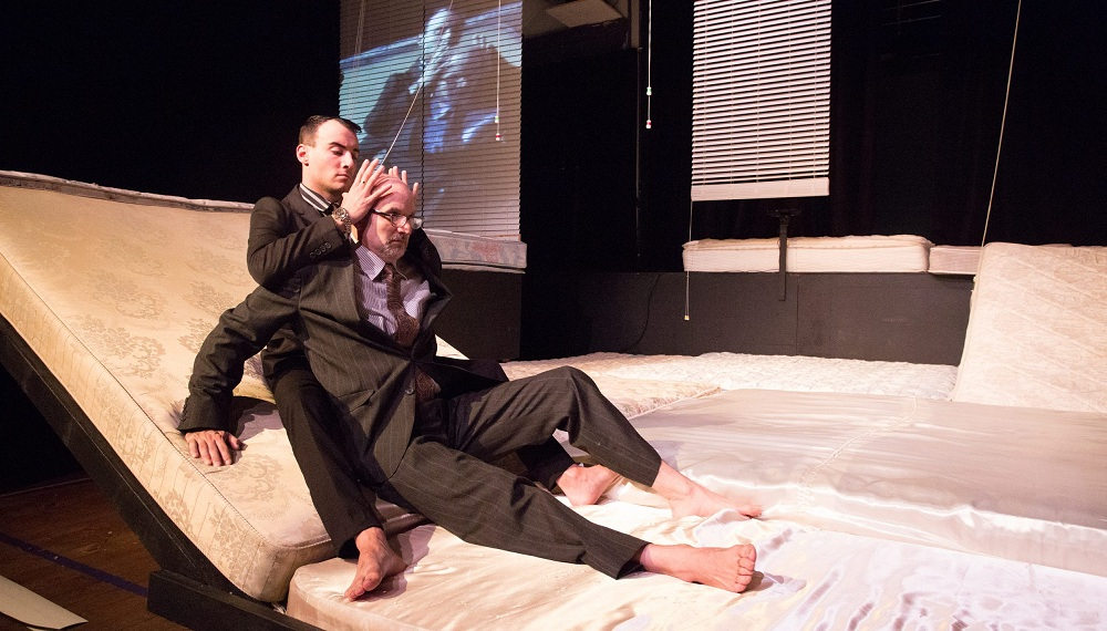 """PJ Tighe and Larry Smith appear in Torn Space Theater's production of """"Lulu."""""""