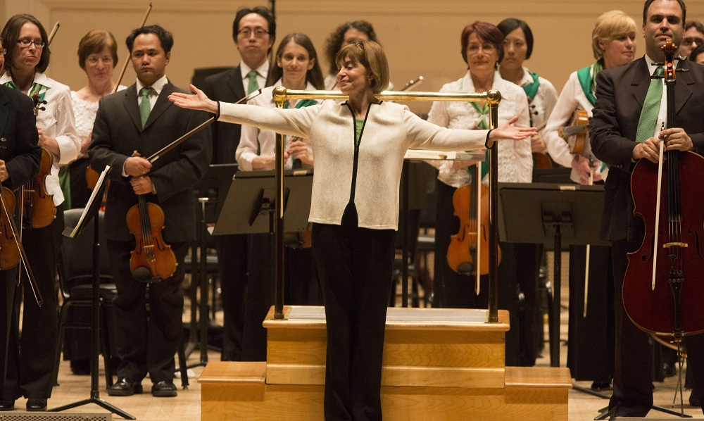 JoAnn Falletta presents the BPO at Carnegie Hall in 2013. Their recording of the Gliere symphony they played on that occasion are on the ballet for possible Grammy nomination. (Keith Bedford / Special to The Buffalo News)