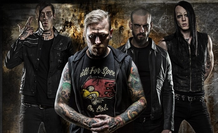 Combichrist performs an intimate show in the Waiting Room on Oct. 26. (Photo credit: Warren Whitmore)