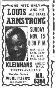 21 oct 1959 louis armstrong at Kleinhans