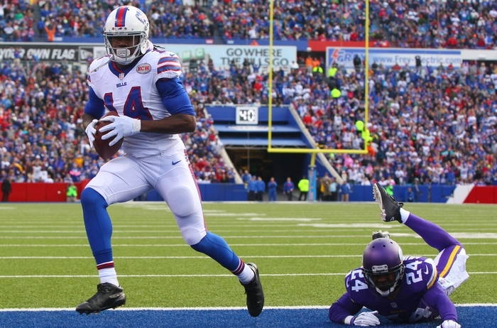 Bills wide receiver Sammy Watkins is listed as probable for Sunday's game with a groin injury. (Mark Mulville/Buffalo News)