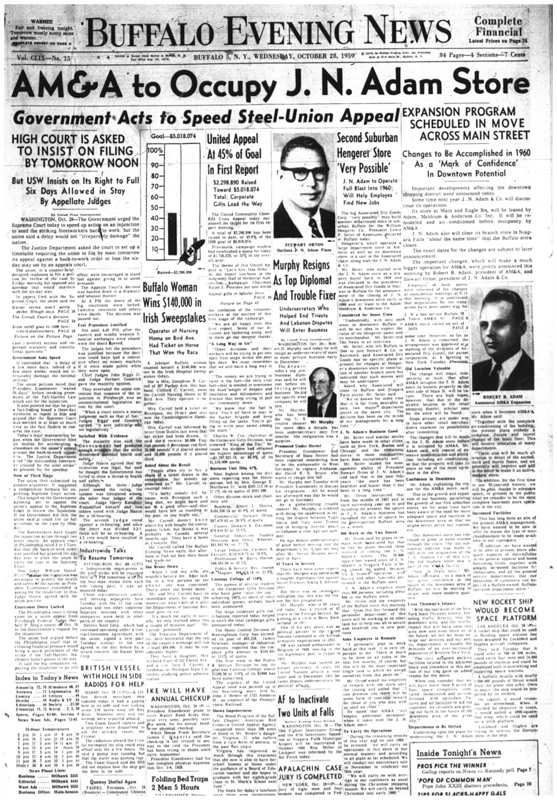 28 oct 1959 AMA front page