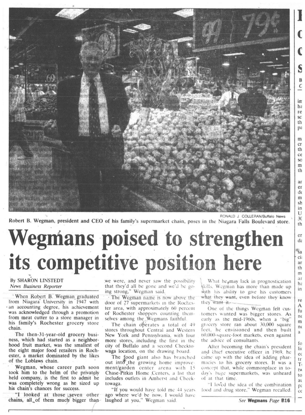 30 oct 1994 wegmans trying tio strengthen in buffalo