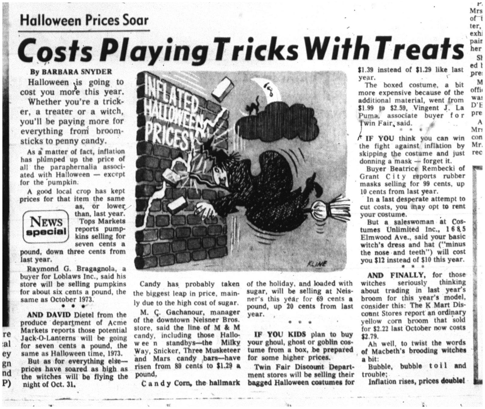 31 22 oct 1974 price of halloween soars
