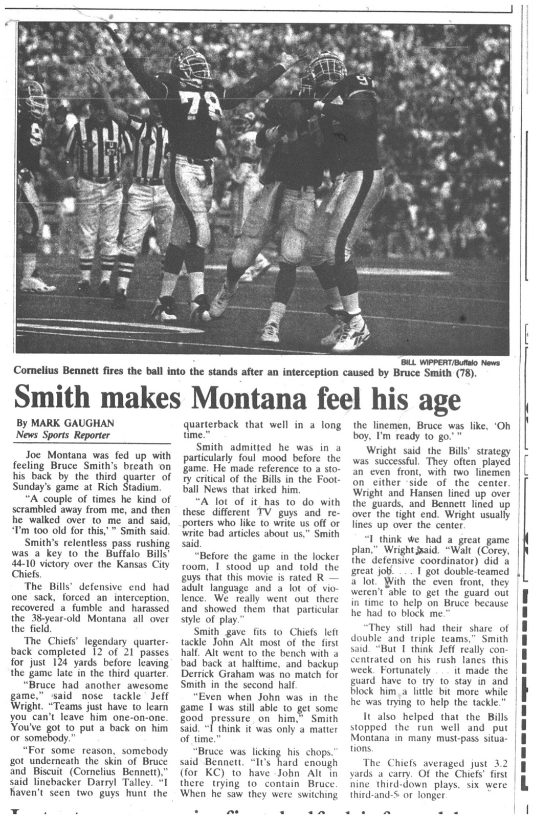 31 oct 1994 bruce makes montana feel his age