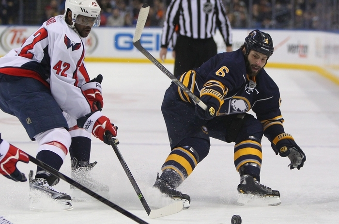 Sabres' Mike Weber says the team was not prepared to play at the level the Stanley Cup contender Anaheim Ducks were when they trounced the Sabres, 5-1, last week, prompting coach Ted Nolan to say his charges looked like a pee wee team. (Mark Mulville/Buffalo News file photo)