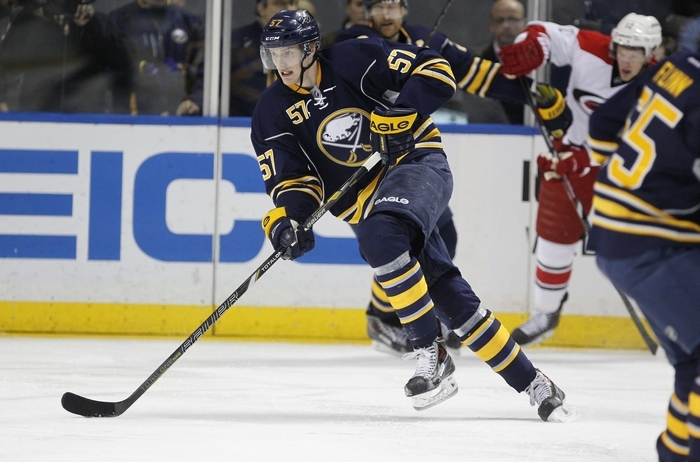 Defenseman Tyler Myers says the Sabres as a group need to control the puck more.