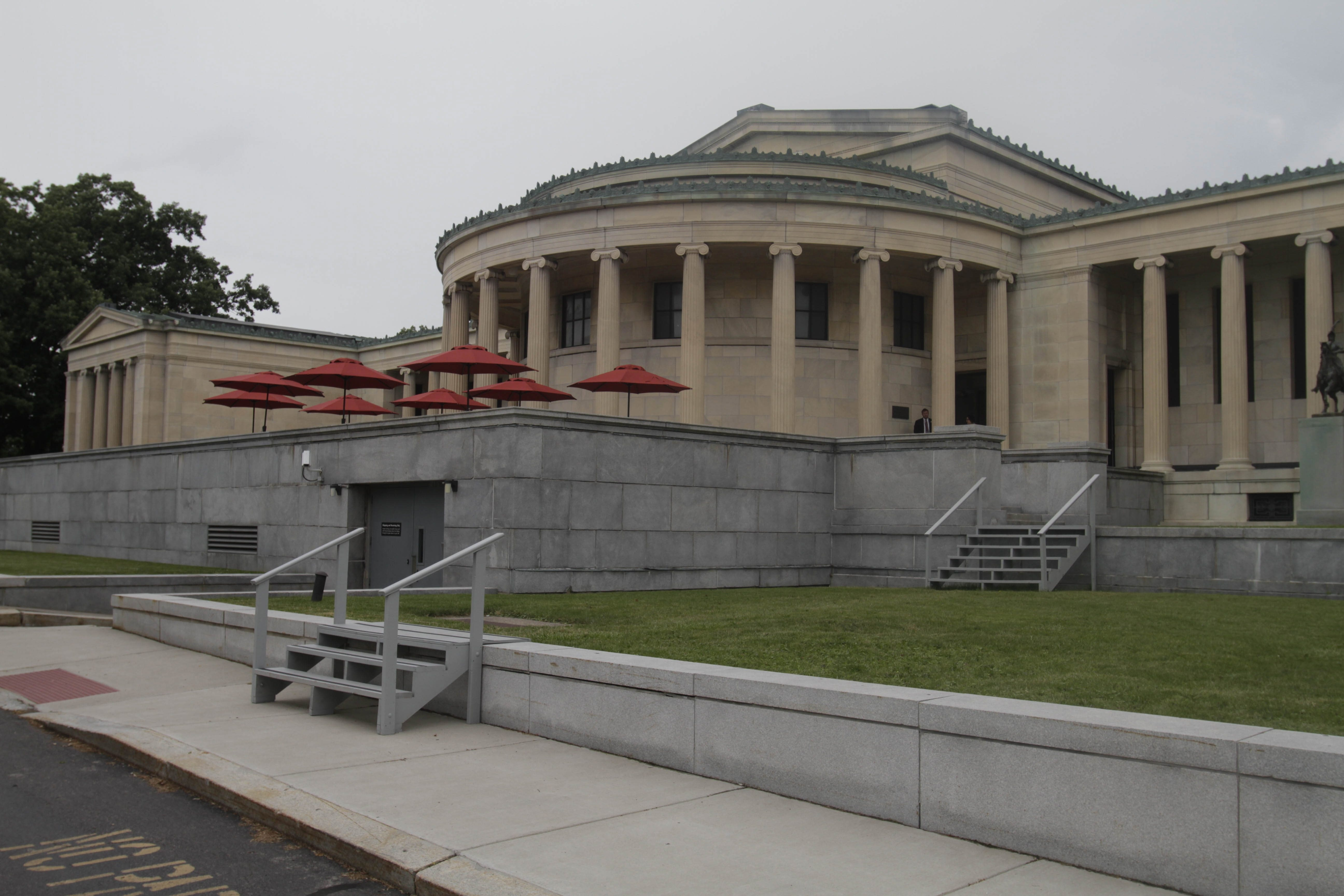 Albright-Knox visitors will have the opportunity to use a new museum entrance and enjoy a new outdoor cafÈ as well.  at  Albright Knox Art Gallery in Buffalo, N.Y. on Wednesday, July 2, 2014 in Buffalo, N.Y.  (John Hickey/Buffalo News)