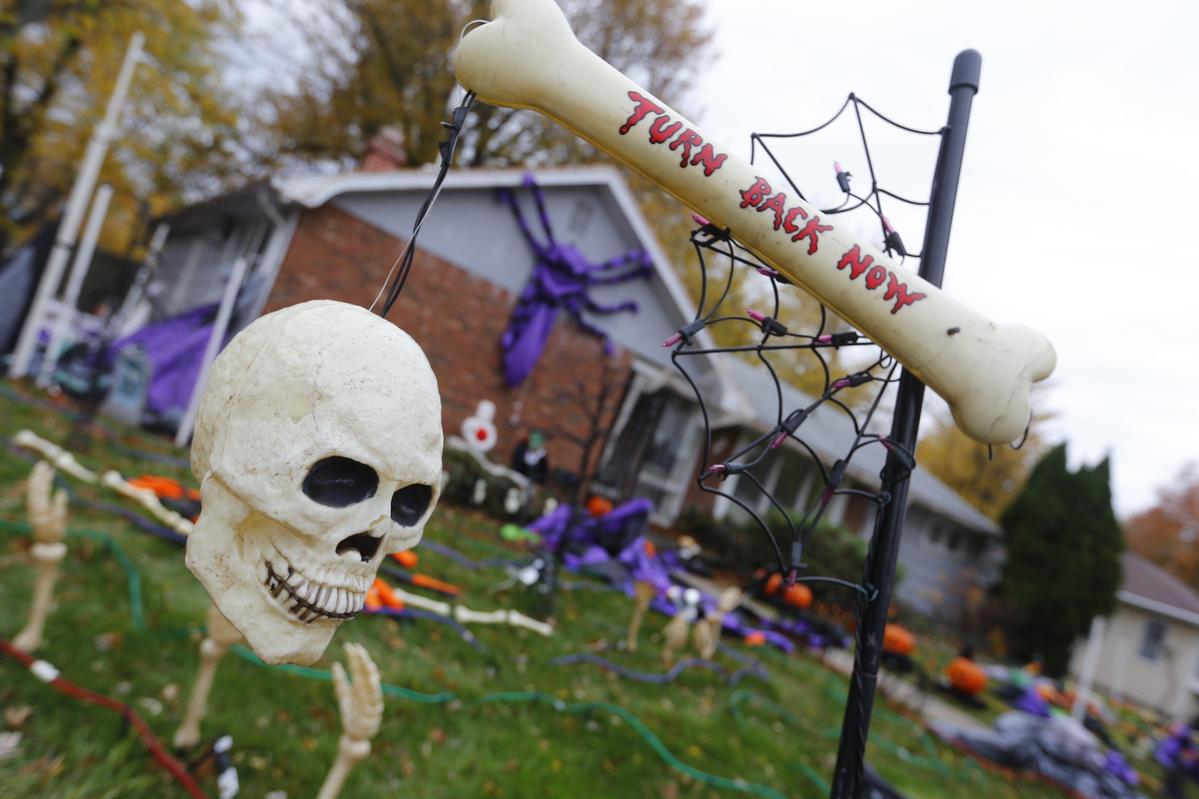 Halloween decoarations  at  Dushane and Parker Blvd.  in Town of Tonawanda, N.Y. on Oct. 28, 2014 .(John Hickey/Buffalo News)