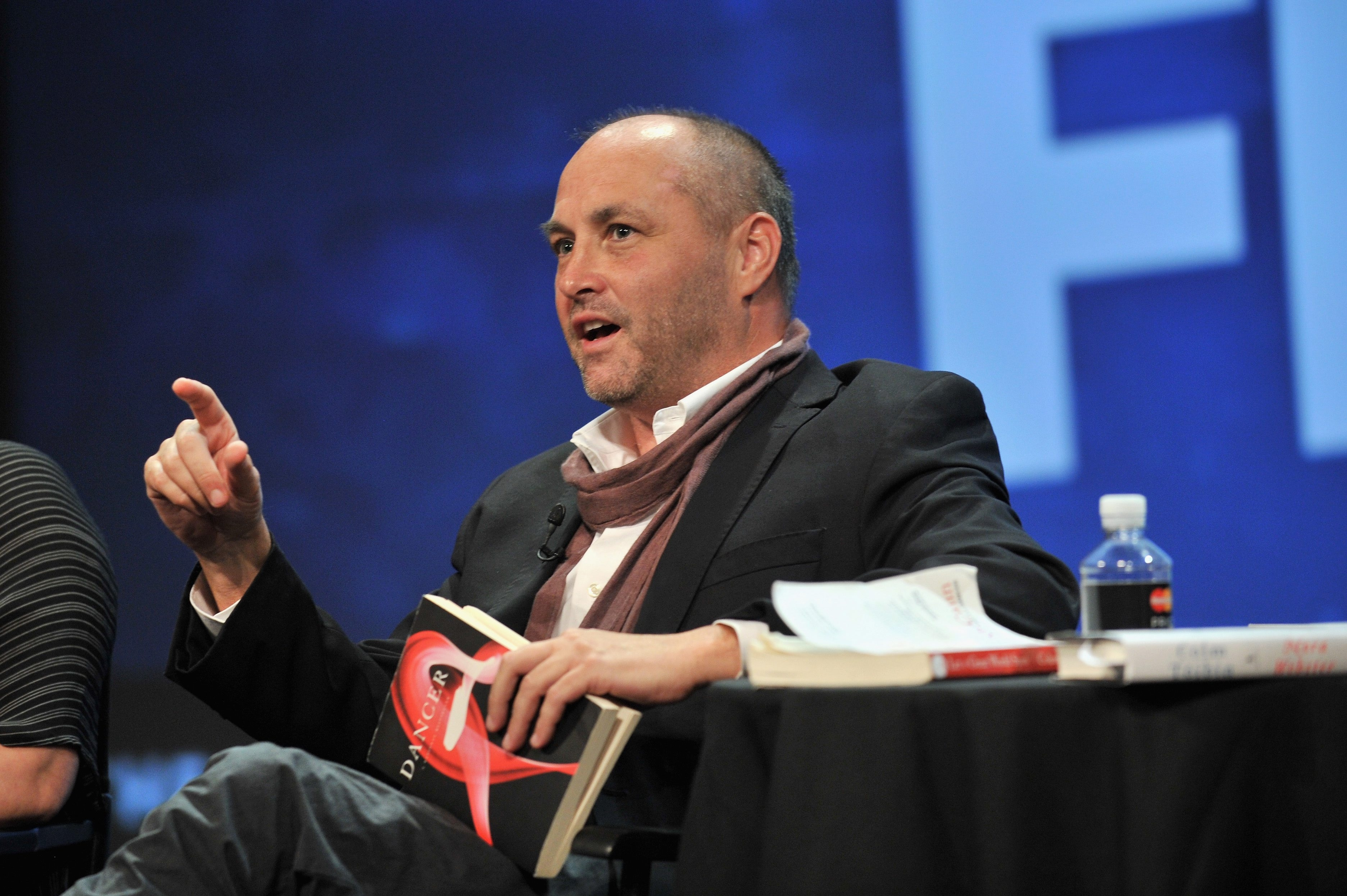 Author Colum McCann talked to students about the creative process.