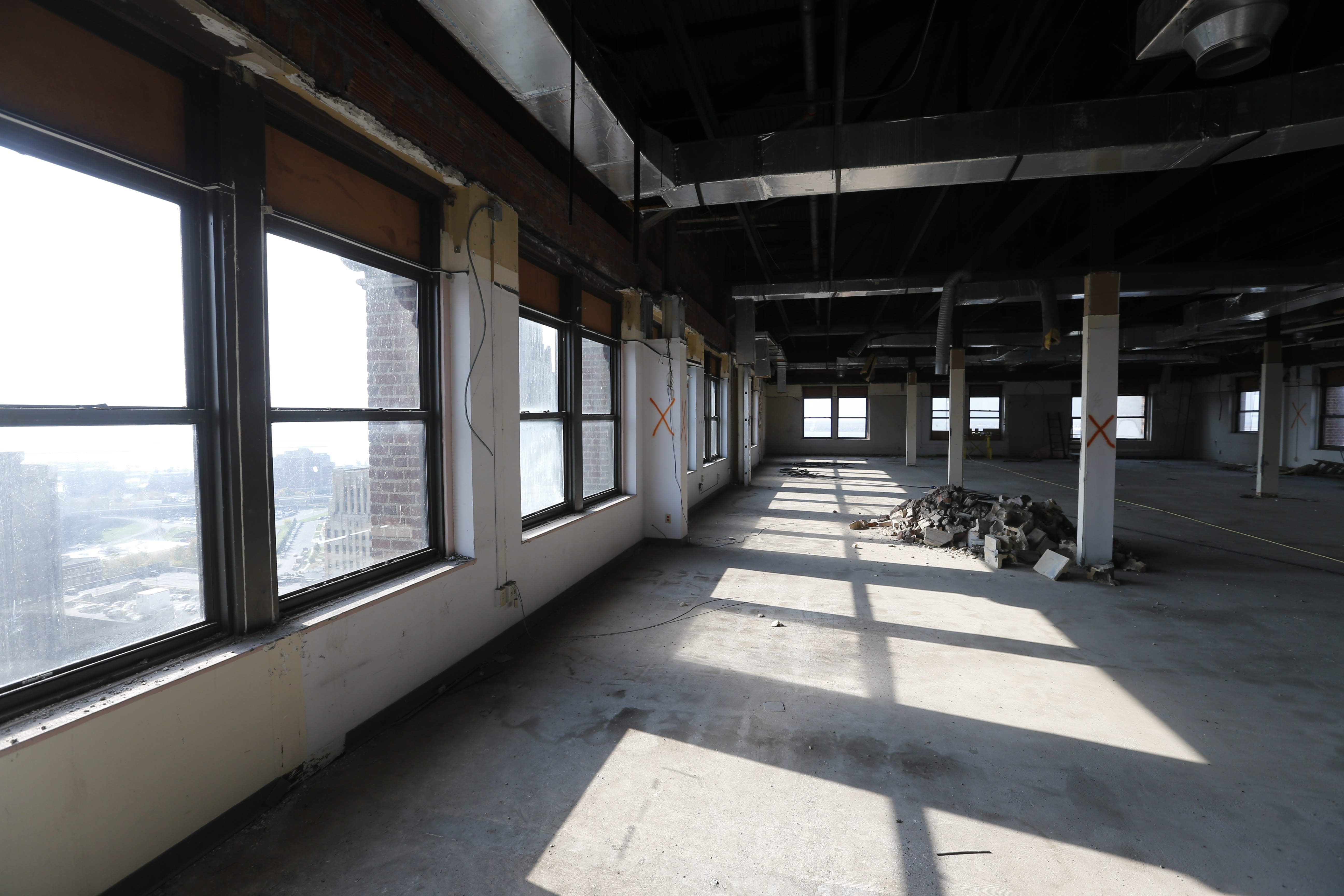 The 18th floor at Statler City as seen Oct. 28. (Derek Gee/Buffalo News)