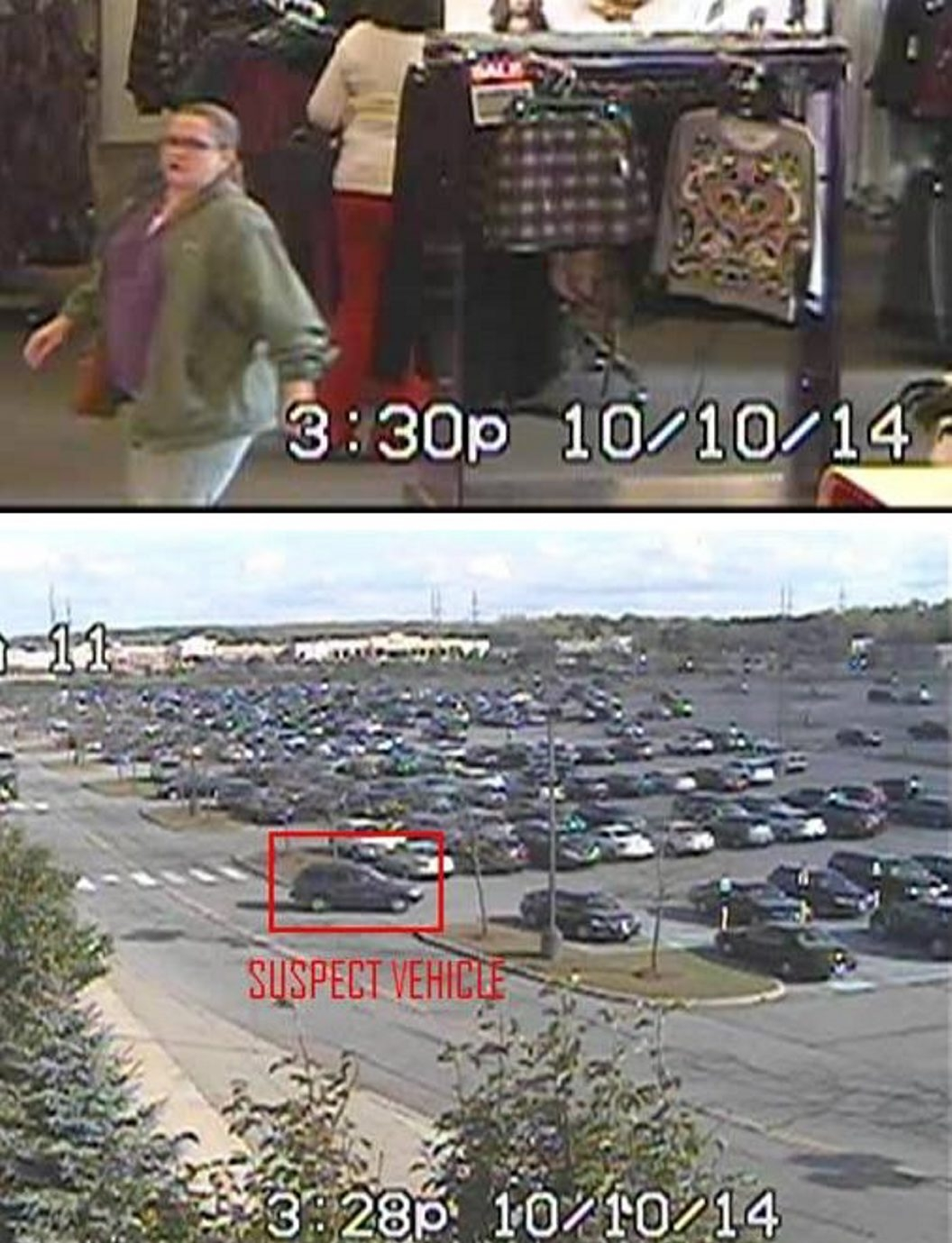 Photos released by Orchard Park police may show suspect, vehicle involved in Oct. 10  'keying' of vehicle in parking space dispute at Quaker Crossing Plaza.