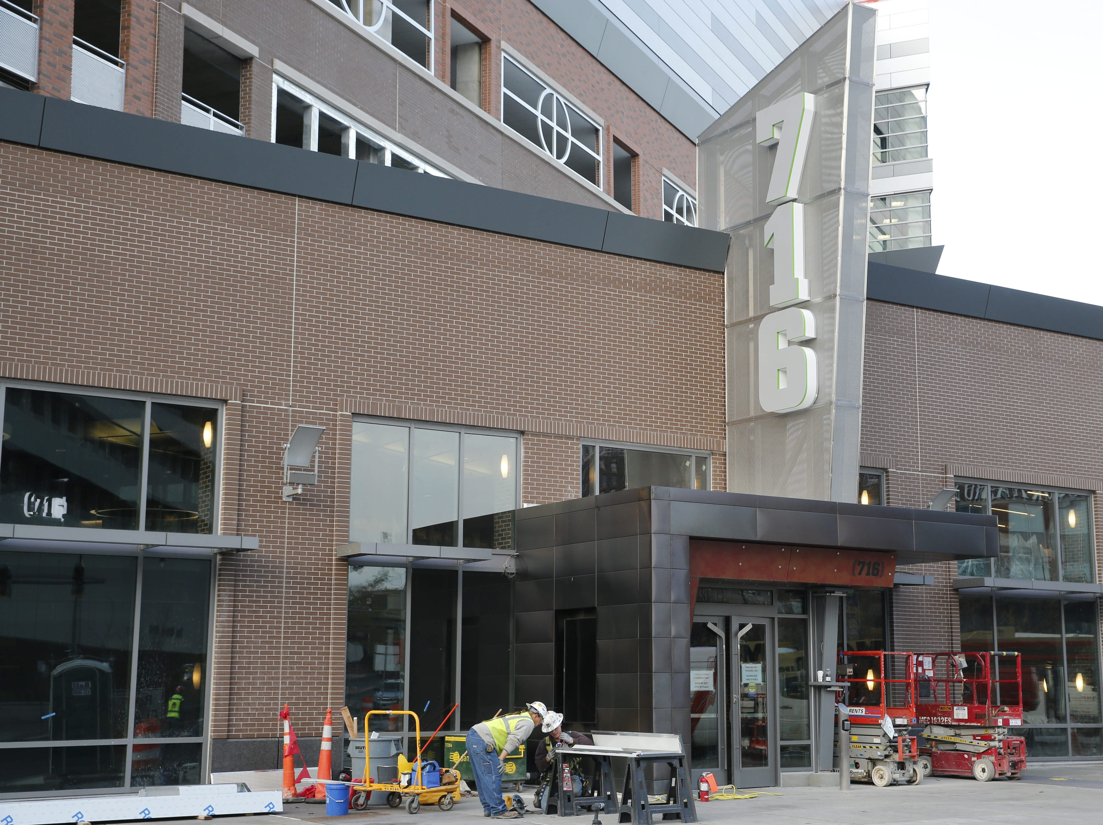 HarborCenter, Buffalo's highest profile development, is slated to open for business at the end of this week, Tuesday, Oct. 28, 2014. (Derek Gee/Buffalo News)