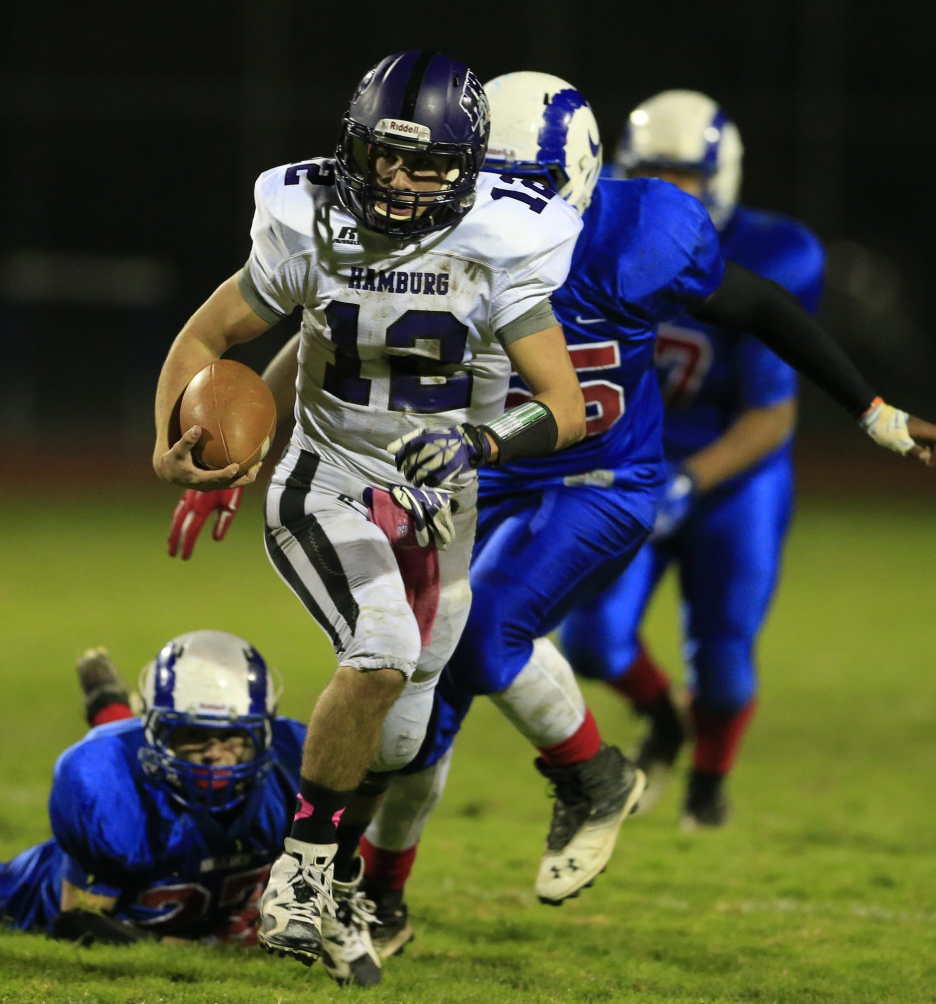 Hamburg quarterback Alex Suchan helped the Bulldogs rally to knock off host Williamsville South in overtime.