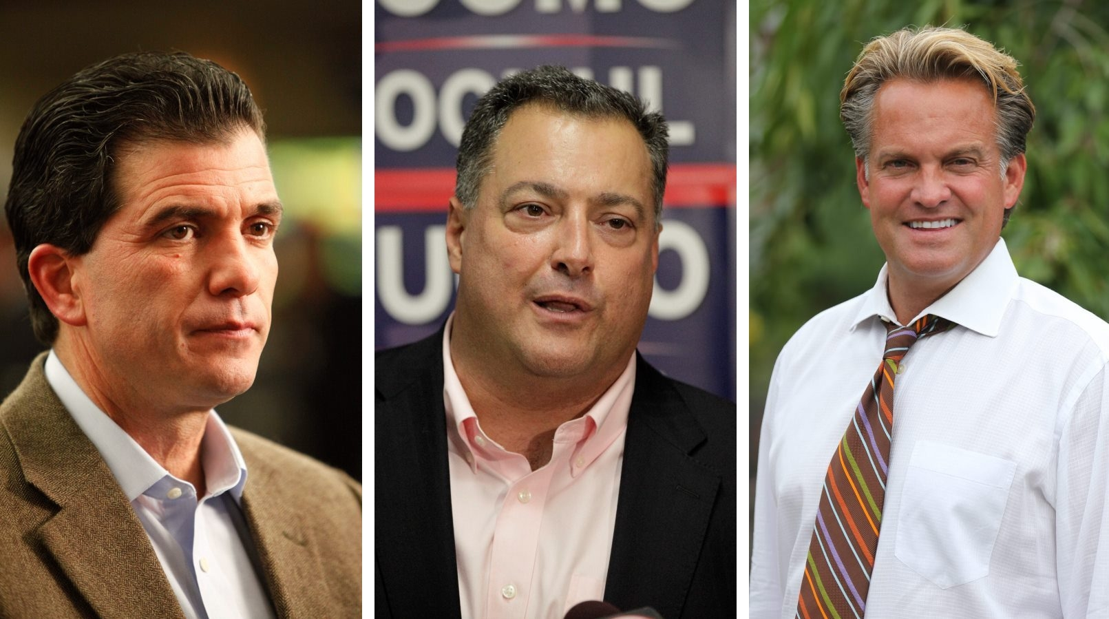 Mark Grisanti, left, Marc Panepinto and Kevin Stocker are locked in a nasty fight for State Senate.