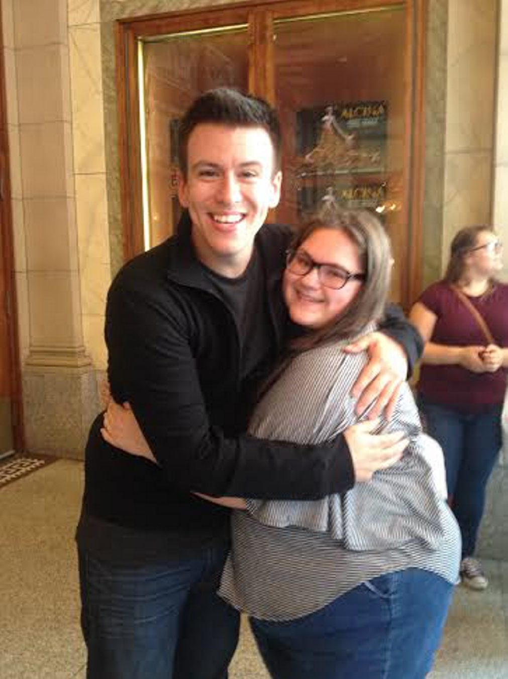 Deanna Garwol, a sophomore at Immaculata Academy, met YouTube star Philip DeFranco in Toronto recently.