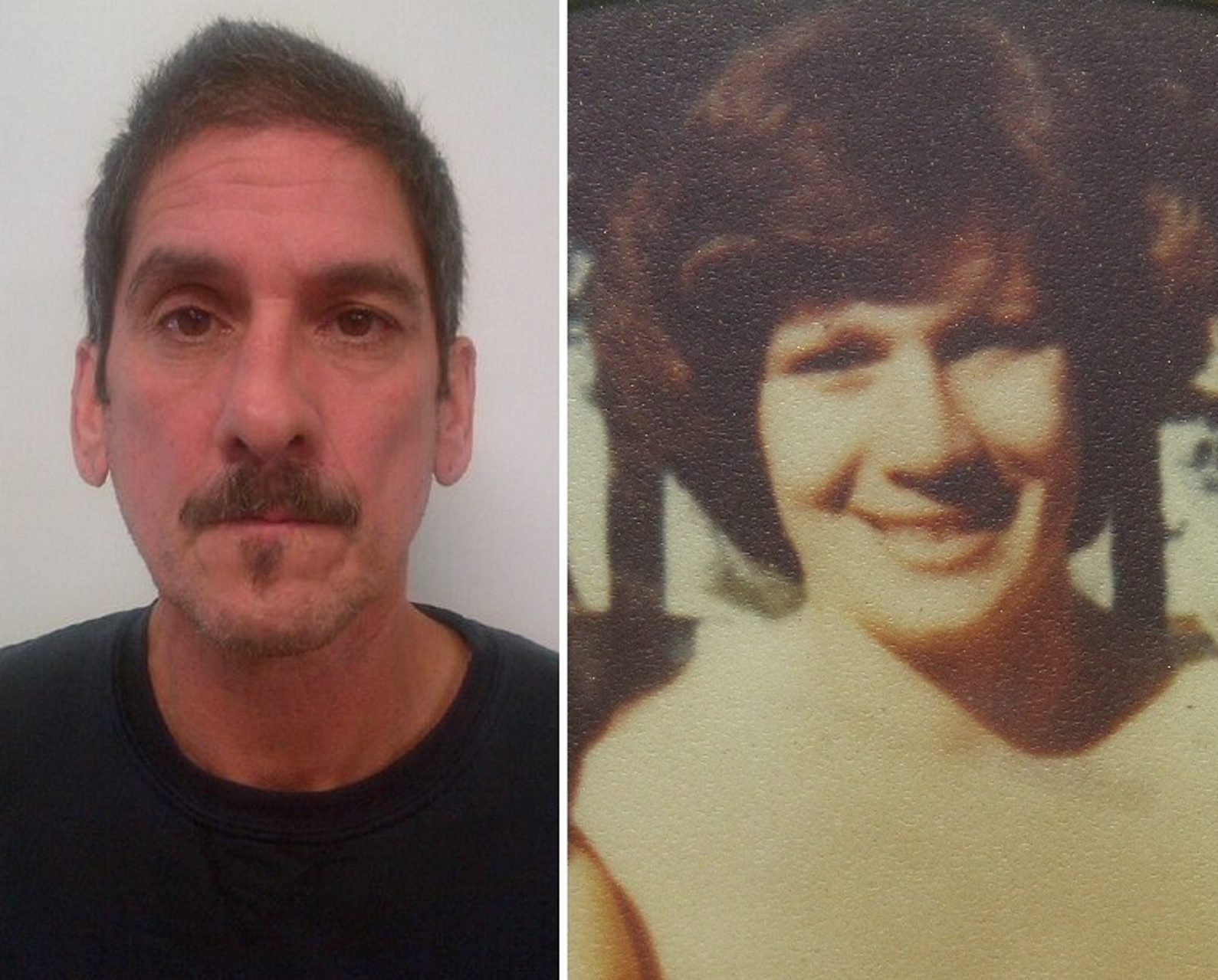 Michael Rodriguez, 60, left, was indicted in November in the 'cold case' slaying of Patricia Rodriguez, right, who was 21 at the time of her death in 1979.
