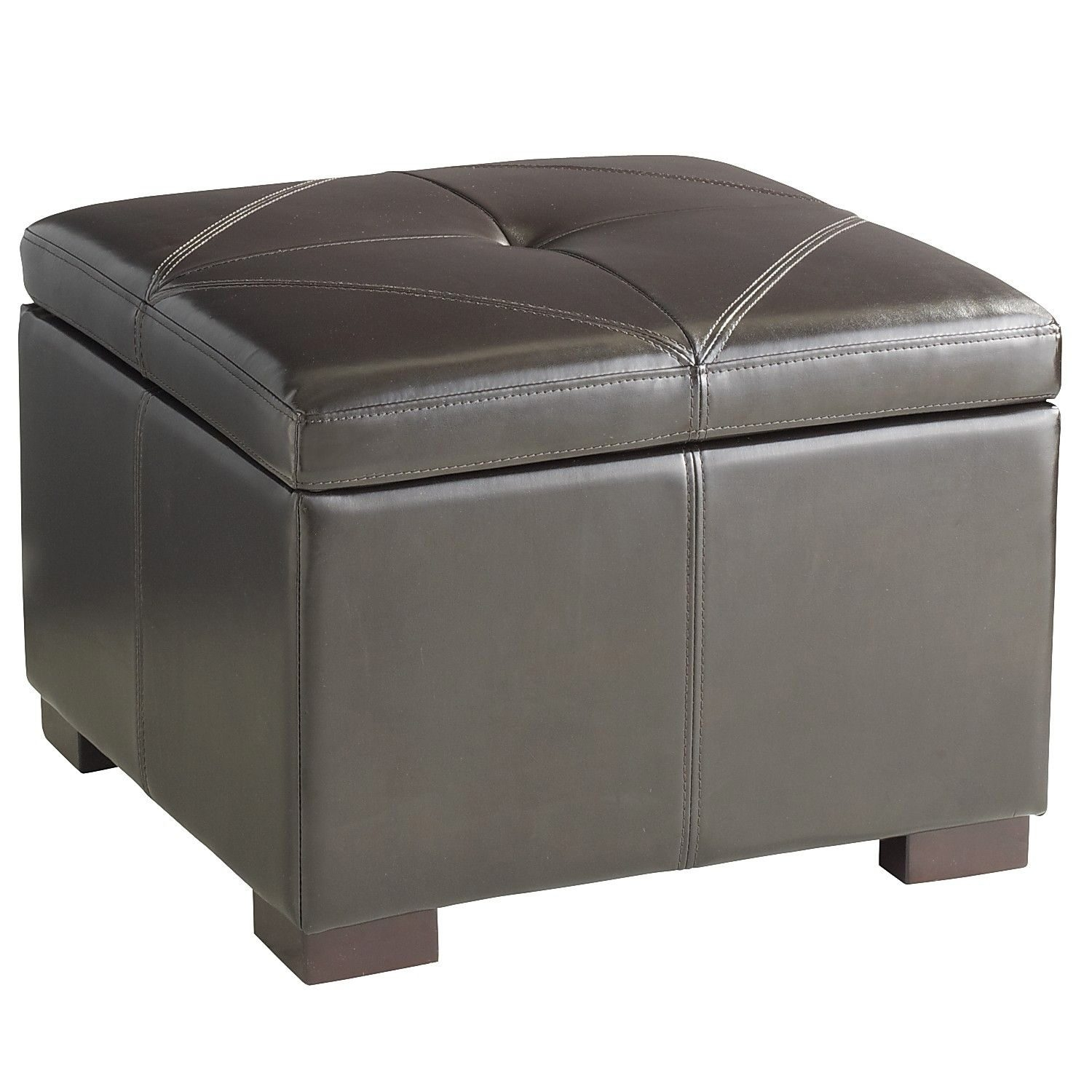 Look for small but multipurpose pieces such as a pouf that can function as seating, an ottoman or even as a side or coffee table. Bonus: They're kid-friendly and also work well in a playroom. Above, a storage ottoman from Pier 1.