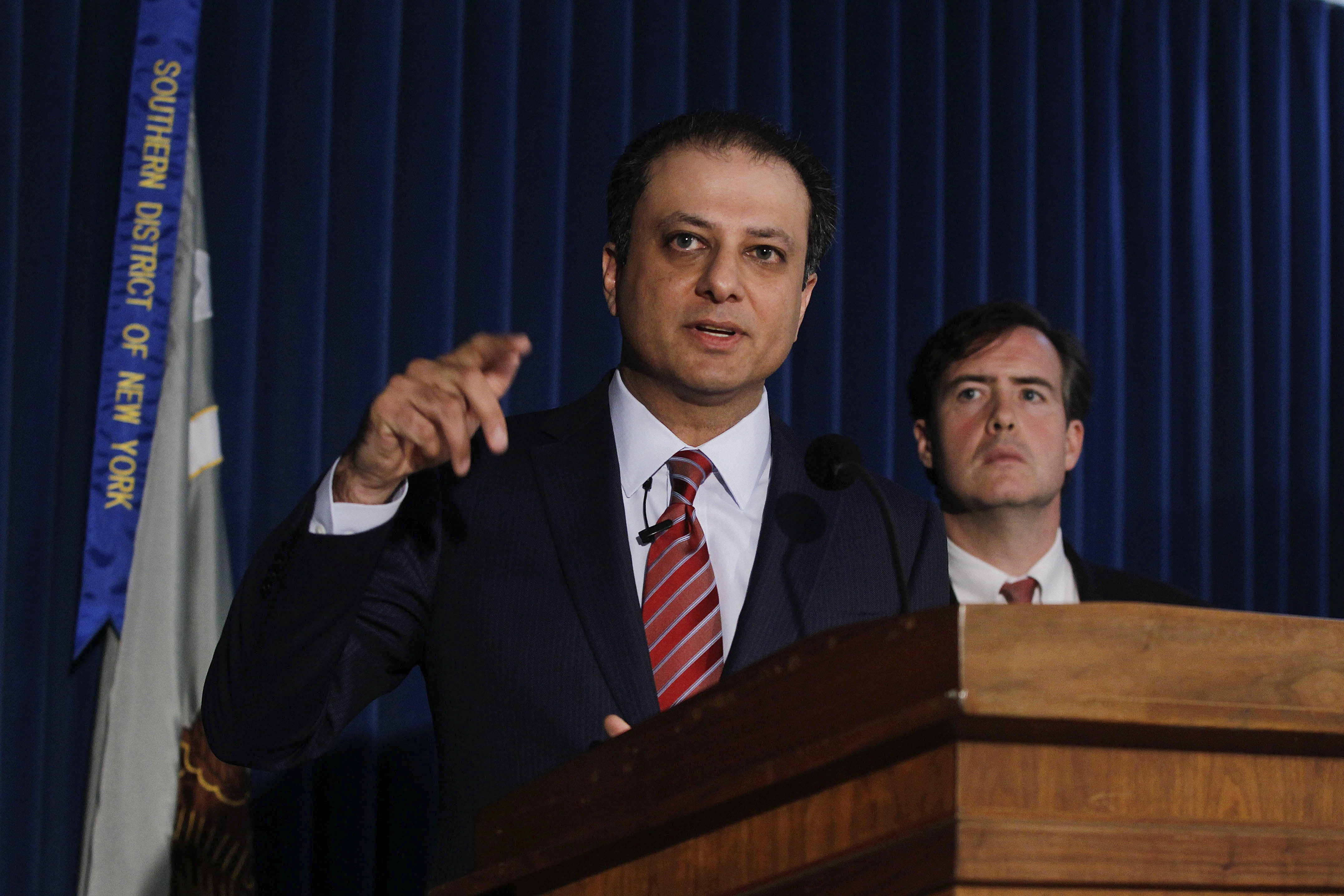 Preet Bharara, the U.S. Attorney for the Southern District of New York, talks about the Moreland Commission Wednesday.