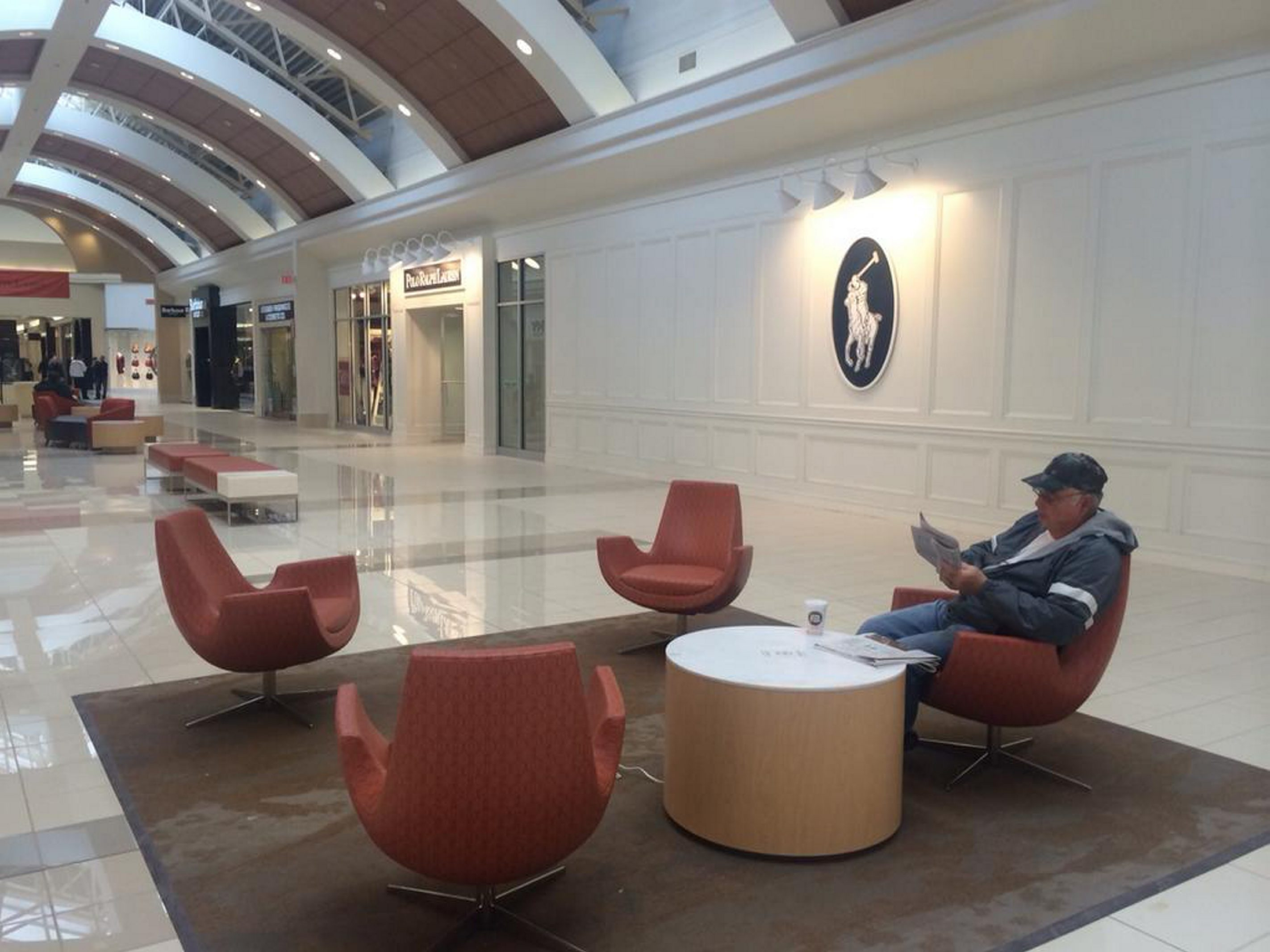 New seating area at expanded Fashion Outlets. (Samantha Christmann)