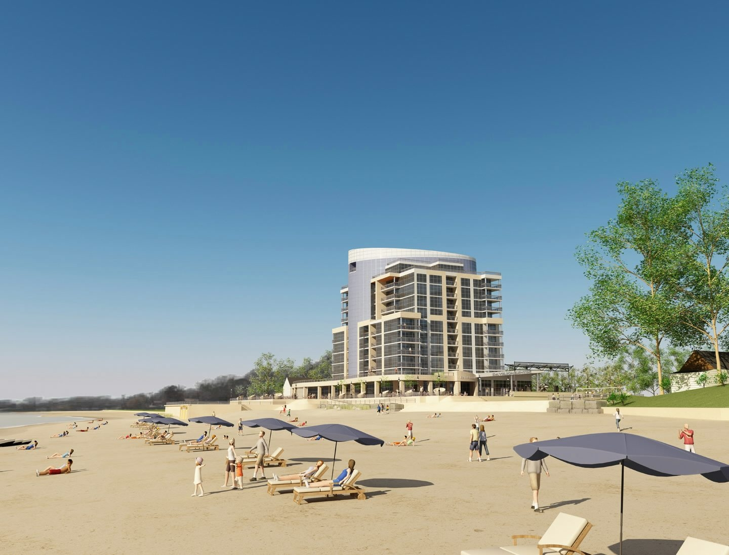 Developer who abandoned plans for this Crystal Beach condo tower is suing Fort Erie and four town lawmakers.